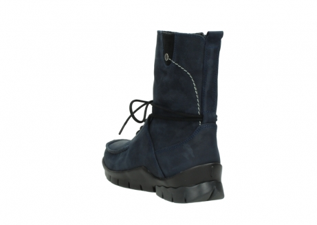 wolky lace up boots 01752 galina 11802 blue oiled nubuck_5