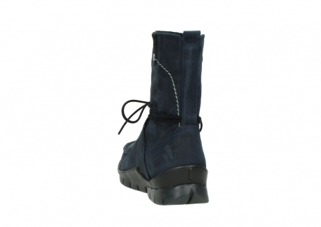 wolky lace up boots 01752 galina 11802 blue oiled nubuck_6