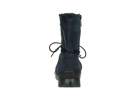 wolky lace up boots 01752 galina 11802 blue oiled nubuck_7