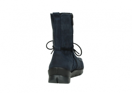 wolky lace up boots 01752 galina 11802 blue oiled nubuck_8