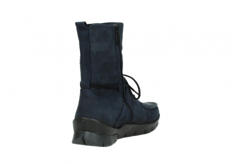 wolky lace up boots 01752 galina 11802 blue oiled nubuck_9