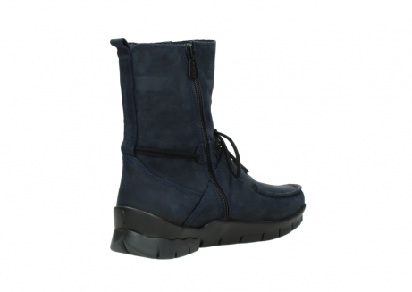 wolky lace up boots 01752 galina 11802 blue oiled nubuck_10