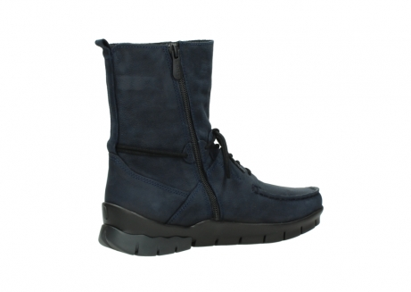 wolky lace up boots 01752 galina 11802 blue oiled nubuck_11