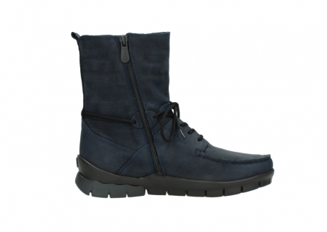 wolky lace up boots 01752 galina 11802 blue oiled nubuck_13