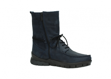 wolky lace up boots 01752 galina 11802 blue oiled nubuck_15