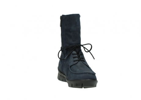 wolky lace up boots 01752 galina 11802 blue oiled nubuck_18
