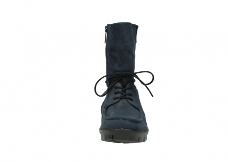 wolky lace up boots 01752 galina 11802 blue oiled nubuck_19