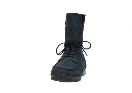 wolky lace up boots 01752 galina 11802 blue oiled nubuck_20