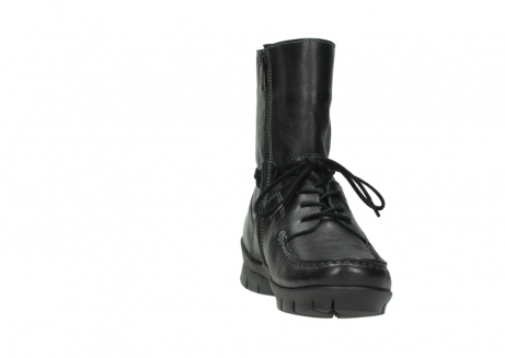 wolky bottines a lacets 01752 galina 30001 cuir noir_18