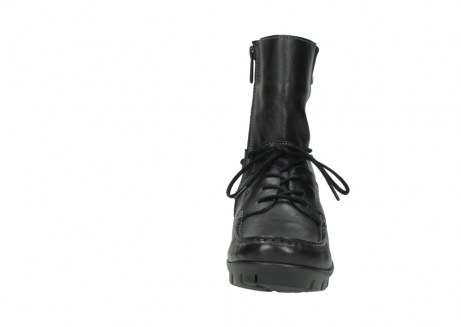 wolky bottines a lacets 01752 galina 30001 cuir noir_19