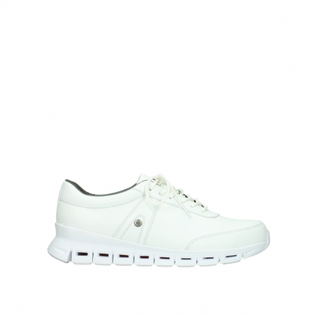 wolky chaussures a lacets 02050 nano 20100 cuir blanc