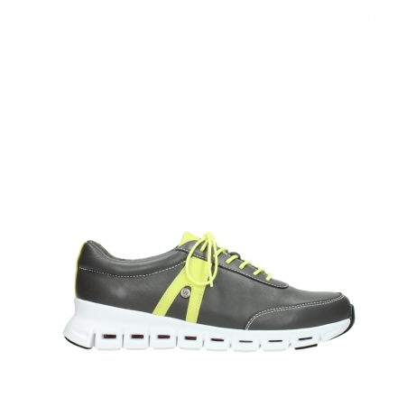 wolky lace up shoes 02050 nano 20219 anthracite yellow leather