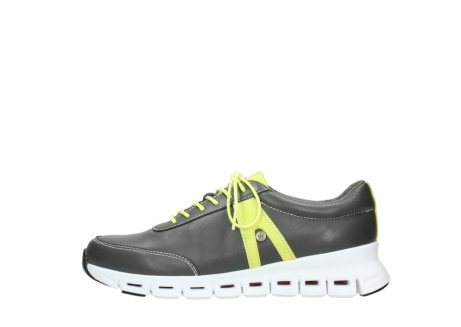 wolky chaussures a lacets 02050 nano 20219 cuir anthracite jaune_1
