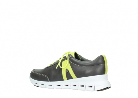 wolky lace up shoes 02050 nano 20219 anthracite yellow leather_3