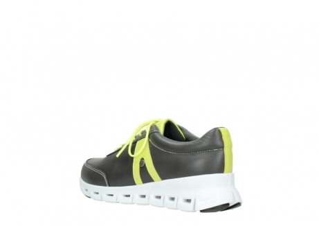 wolky lace up shoes 02050 nano 20219 anthracite yellow leather_4