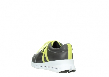 wolky lace up shoes 02050 nano 20219 anthracite yellow leather_5