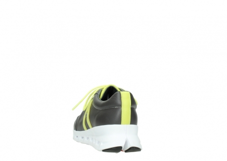 wolky lace up shoes 02050 nano 20219 anthracite yellow leather_6