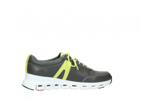 wolky chaussures a lacets 02050 nano 20219 cuir anthracite jaune_12