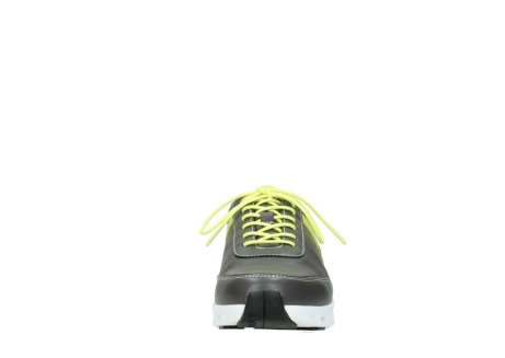 wolky chaussures a lacets 02050 nano 20219 cuir anthracite jaune_19