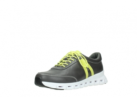 wolky chaussures a lacets 02050 nano 20219 cuir anthracite jaune_22