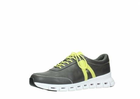 wolky chaussures a lacets 02050 nano 20219 cuir anthracite jaune_23
