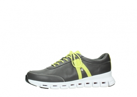 wolky chaussures a lacets 02050 nano 20219 cuir anthracite jaune_24