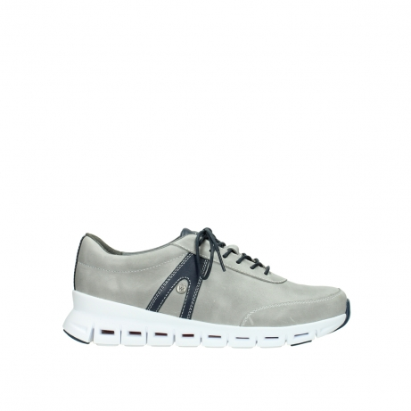 wolky lace up shoes 02050 nano 30208 grey blue leather