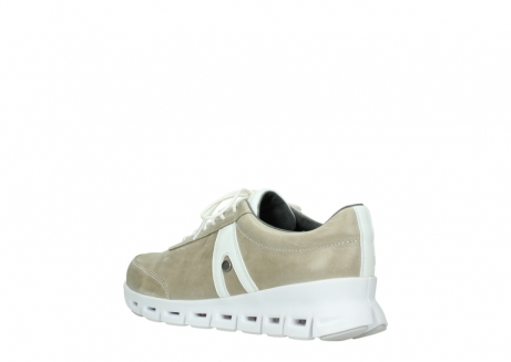 wolky chaussures a lacets 02050 nano 30381 cuir sable blanc_4