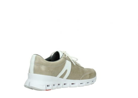 wolky chaussures a lacets 02050 nano 30381 cuir sable blanc_10
