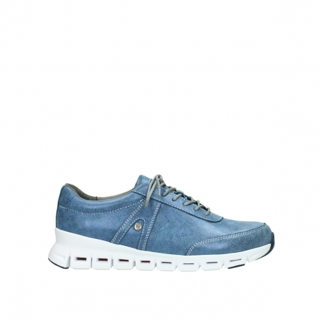 wolky lace up shoes 02050 nano 70800 blue leather
