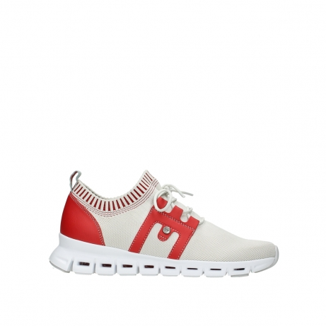 wolky lace up shoes 02052 tera 90125 offwhite red
