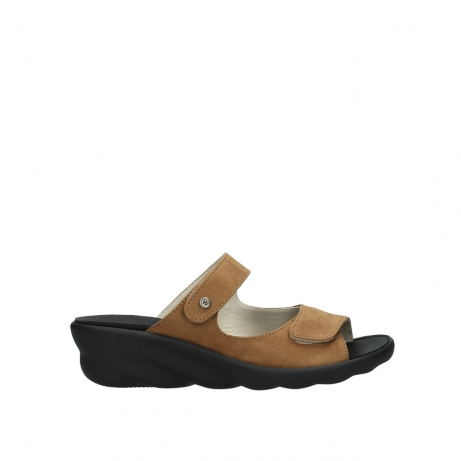 wolky slippers 03127 bolena 11410 tobacco nubuckleather