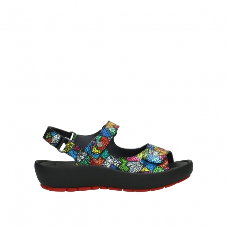 wolky sandales 03325 rio 40992 suede picasso multi