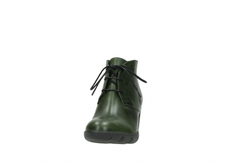 wolky lace up boots 03675 bighorn 30732 forestgreen leather_20