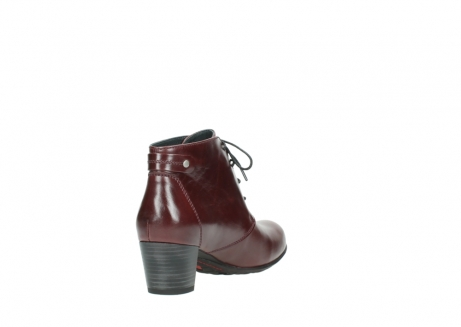 wolky ankle boots 03751 ball 20510 bordeaux leather_9