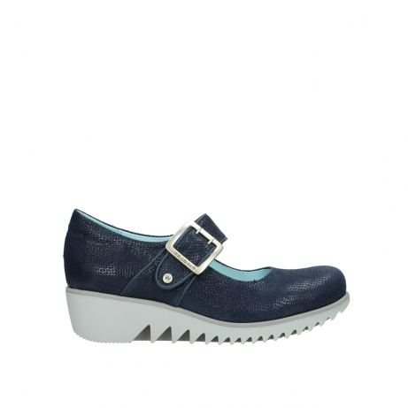 wolky chaussures a bride 03811 silky 20800 cuir bleu
