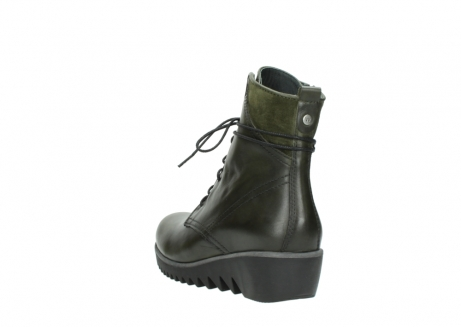 wolky lace up boots 03812 rusty 20730 forest green leather_5