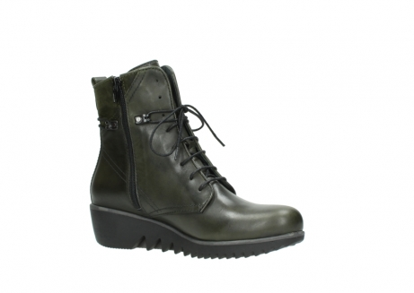 wolky lace up boots 03812 rusty 20730 forest green leather_15