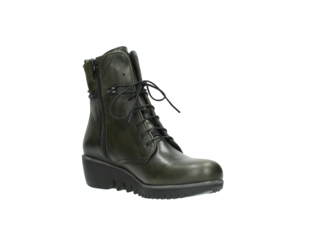 wolky lace up boots 03812 rusty 20730 forest green leather_16