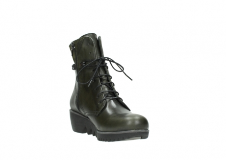 wolky lace up boots 03812 rusty 20730 forest green leather_17