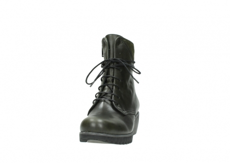 wolky lace up boots 03812 rusty 20730 forest green leather_20