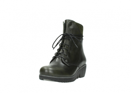 wolky lace up boots 03812 rusty 20730 forest green leather_21