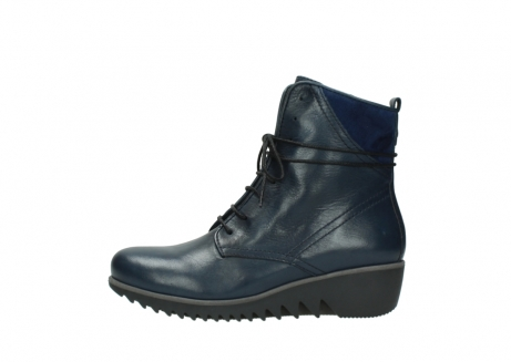 wolky bottines a lacets 03812 rusty 20800 cuir bleu_1