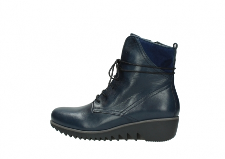 wolky bottines a lacets 03812 rusty 20800 cuir bleu_2