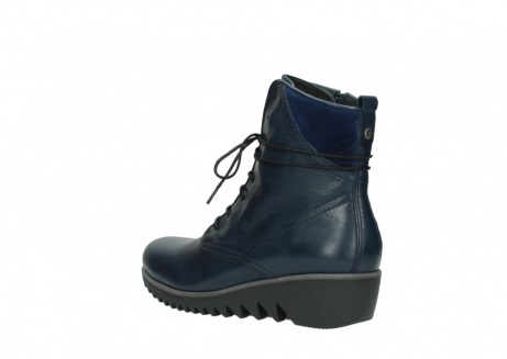 wolky bottines a lacets 03812 rusty 20800 cuir bleu_4
