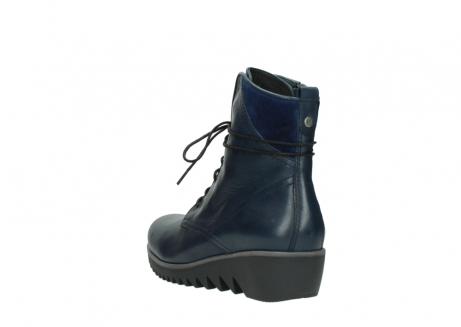 wolky bottines a lacets 03812 rusty 20800 cuir bleu_5