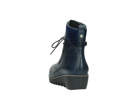 wolky bottines a lacets 03812 rusty 20800 cuir bleu_6