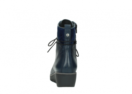 wolky bottines a lacets 03812 rusty 20800 cuir bleu_7