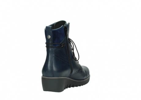 wolky bottines a lacets 03812 rusty 20800 cuir bleu_9