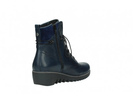 wolky bottines a lacets 03812 rusty 20800 cuir bleu_10
